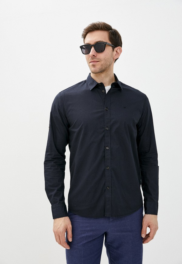мужская рубашка с длинным рукавом baon, черная