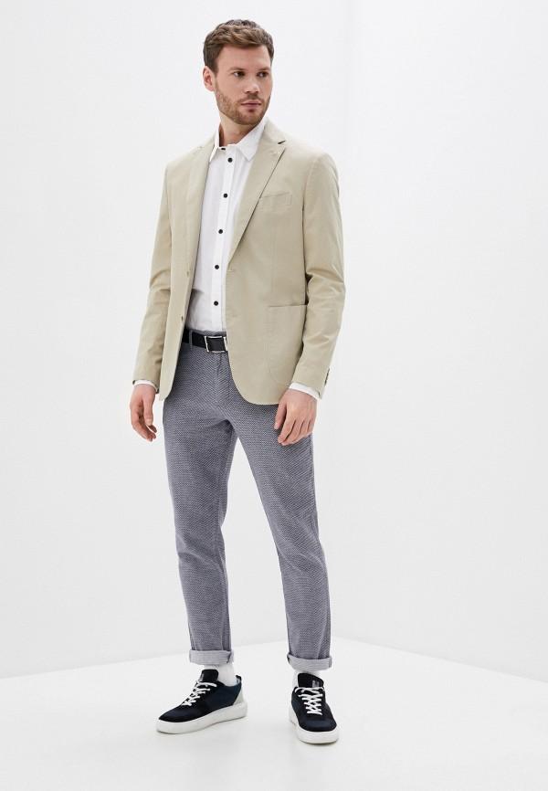 Фото 2 - Мужскую рубашку Baon белого цвета