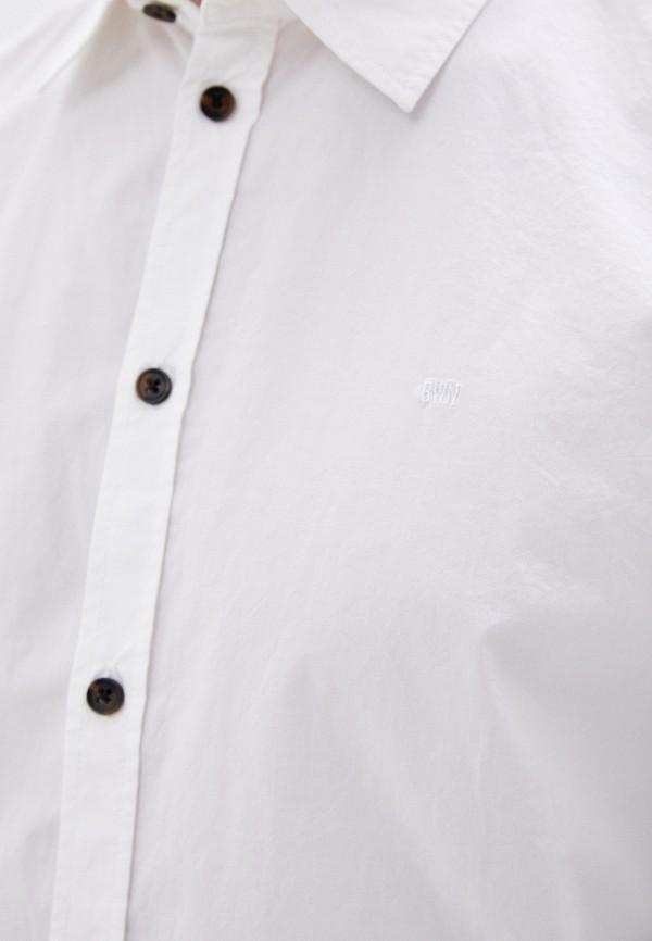 Фото 4 - Мужскую рубашку Baon белого цвета