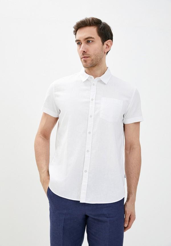 мужская рубашка с коротким рукавом baon, белая