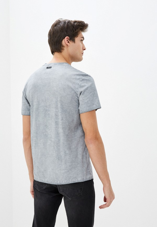 Фото 3 - Мужскую футболку Baon серого цвета