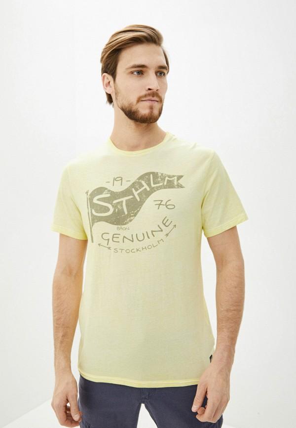мужская футболка с коротким рукавом baon, желтая