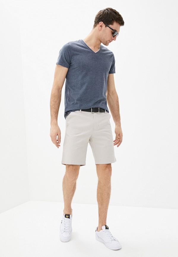 Фото 2 - Мужскую футболку Baon синего цвета