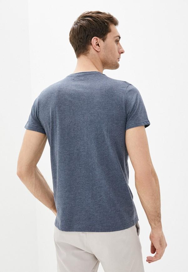 Фото 3 - Мужскую футболку Baon синего цвета