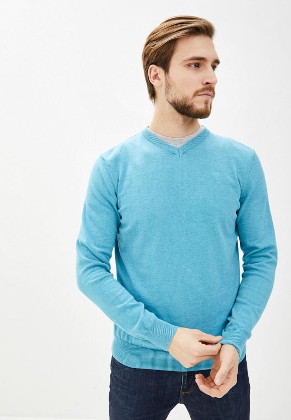 мужской пуловер baon, бирюзовый