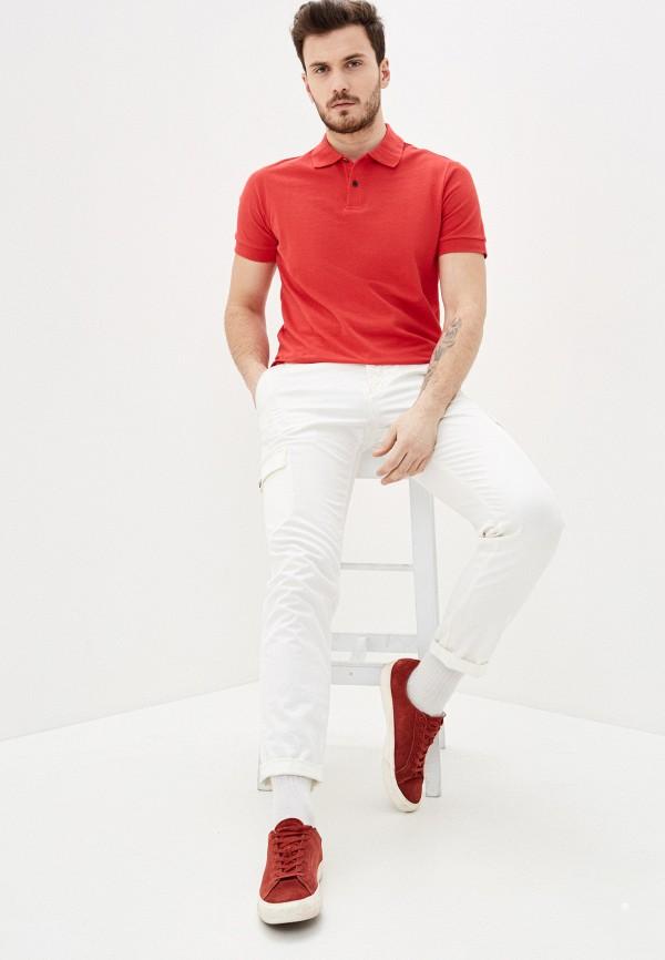 Фото 2 - Мужское поло Baon красного цвета