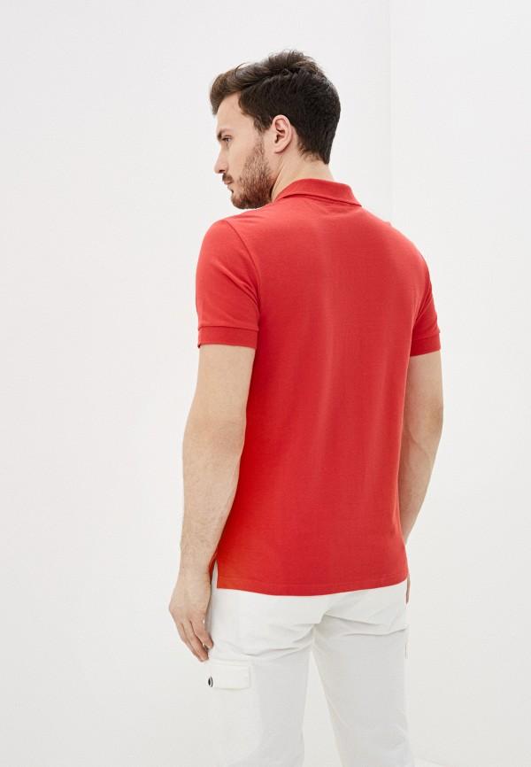 Фото 3 - Мужское поло Baon красного цвета