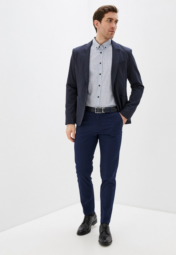 Фото 2 - Мужскую рубашку Baon серого цвета