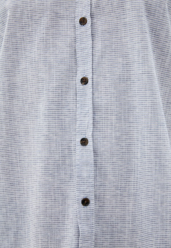 Фото 4 - Мужскую рубашку Baon серого цвета