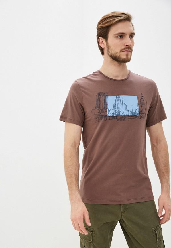 Фото - Мужскую футболку Baon коричневого цвета
