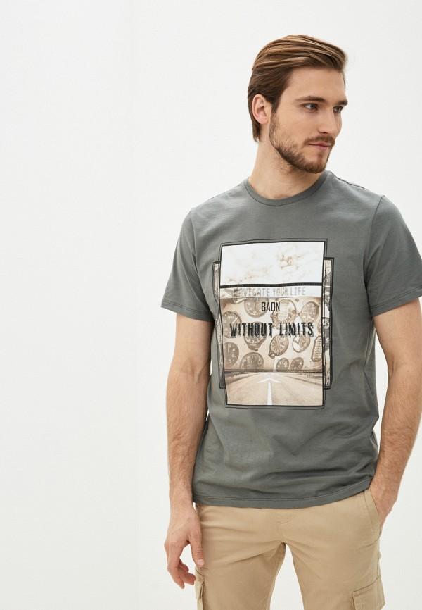 Фото - Мужскую футболку Baon цвета хаки