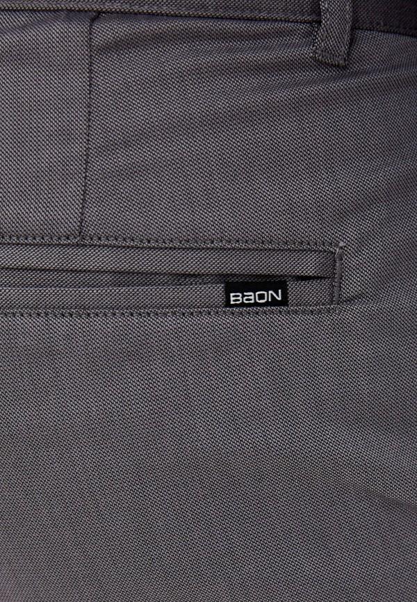 Фото 4 - Мужские брюки Baon серого цвета