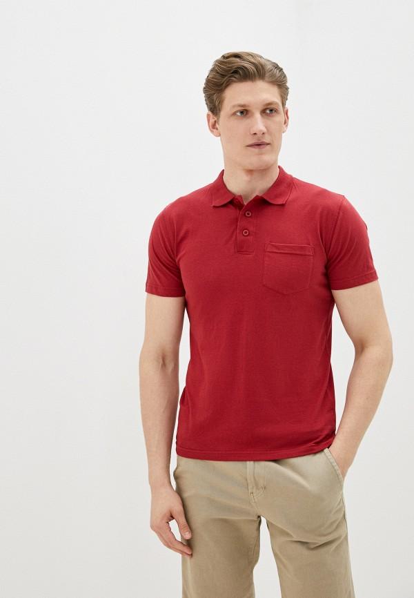Фото - Мужское поло Baon бордового цвета