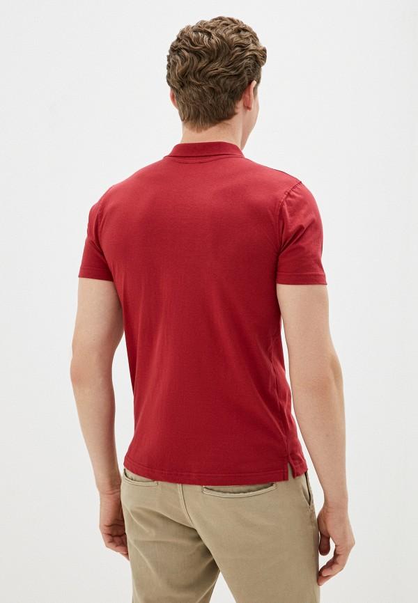 Фото 3 - Мужское поло Baon бордового цвета