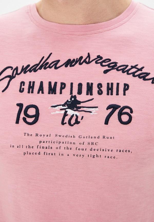 Фото 4 - Мужскую футболку Baon розового цвета