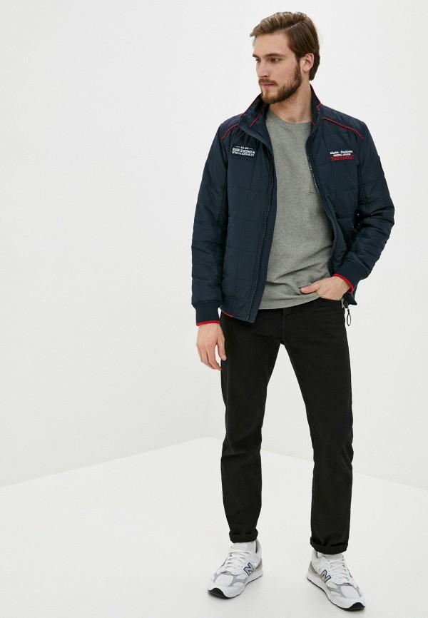 Фото 2 - Куртку утепленная Baon синего цвета