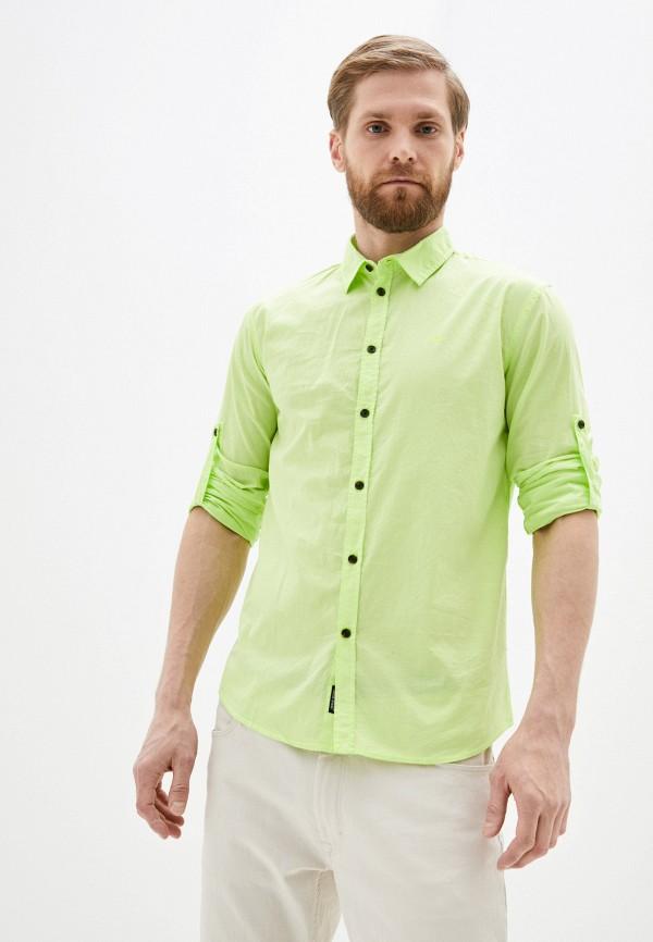 мужская рубашка с длинным рукавом baon, зеленая