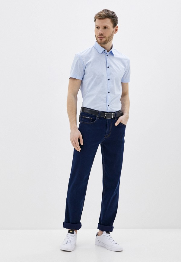 Фото 2 - Мужскую рубашку Baon голубого цвета