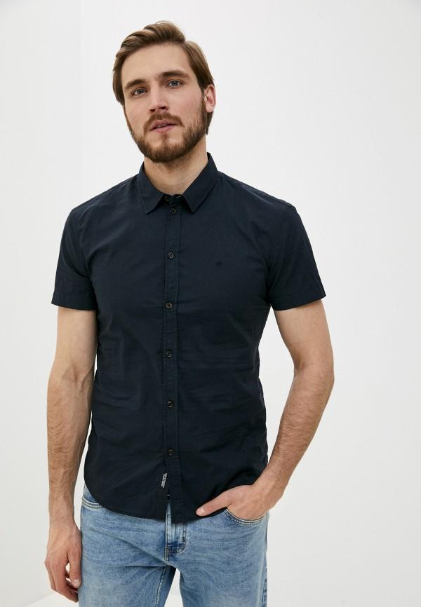 мужская рубашка с коротким рукавом baon, черная