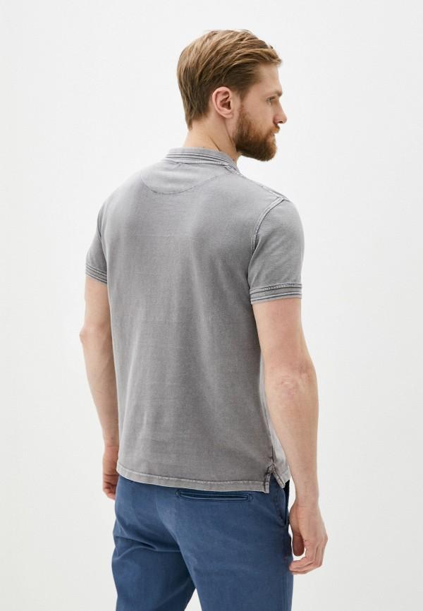 Фото 3 - Мужское поло Baon серого цвета