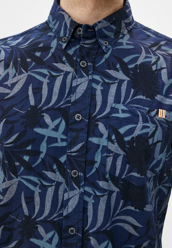 Фото 4 - Мужскую рубашку Baon синего цвета