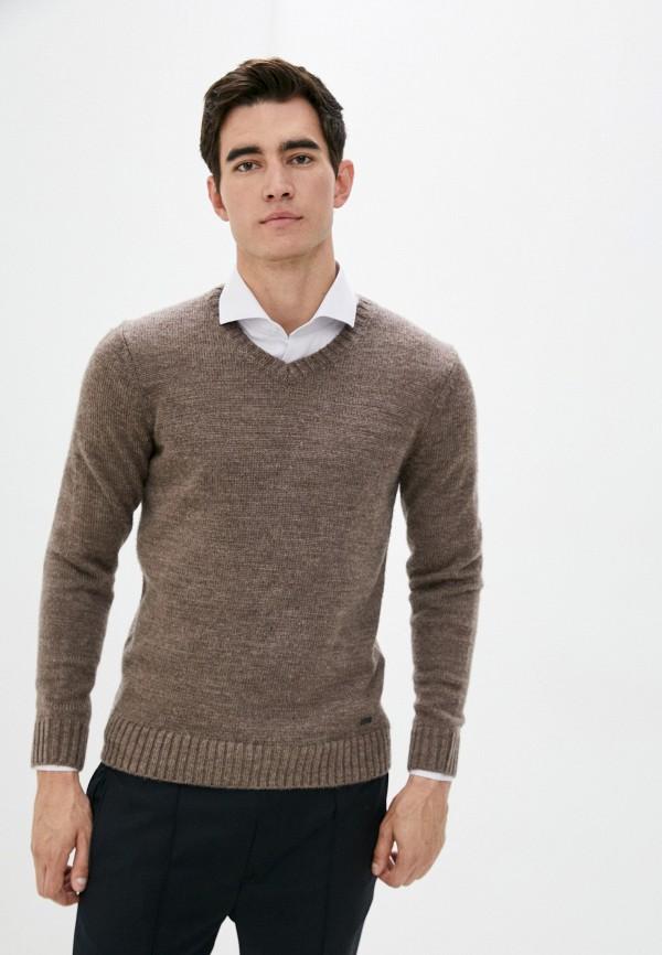 мужской пуловер baon, коричневый