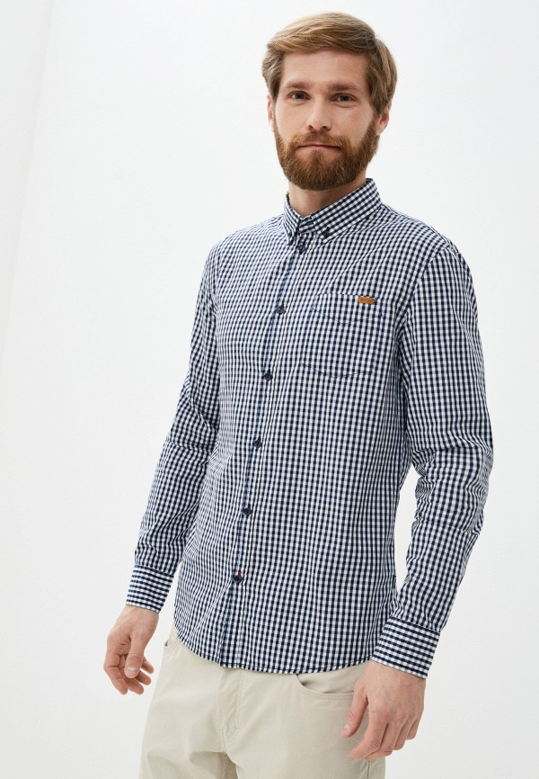 мужская рубашка baon, синяя