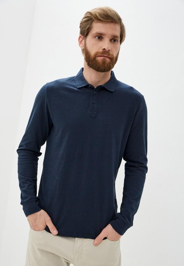 мужское поло baon, синее