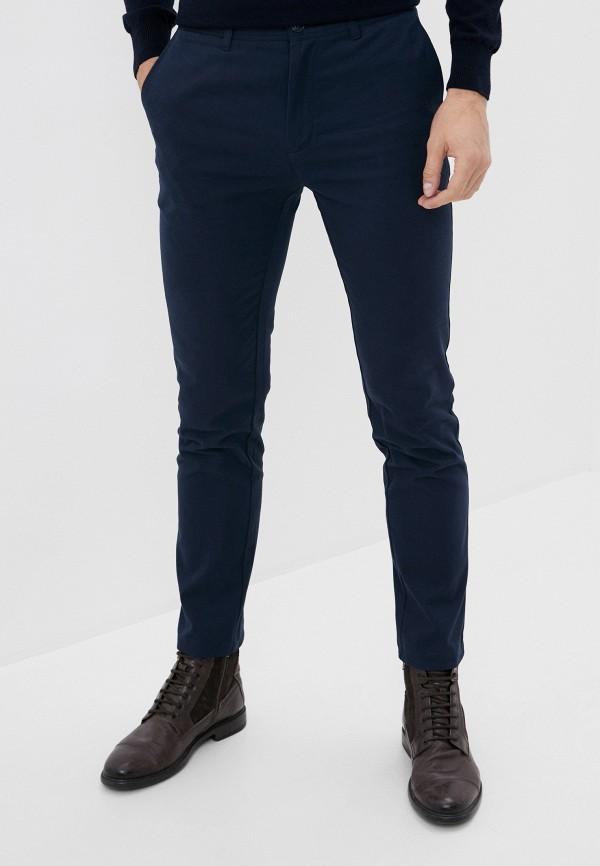 мужские зауженные брюки baon, синие