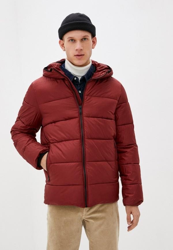 мужская куртка baon, бордовая