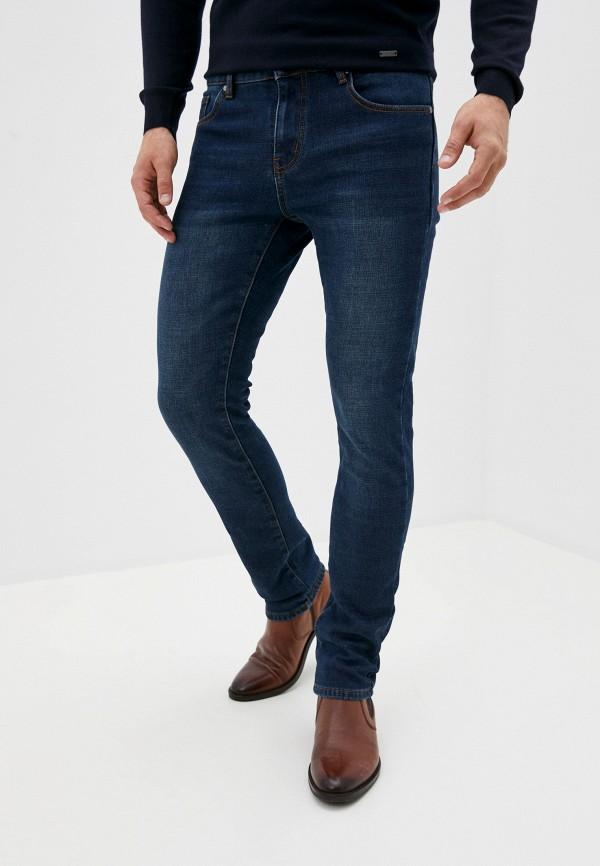 мужские зауженные джинсы baon, синие