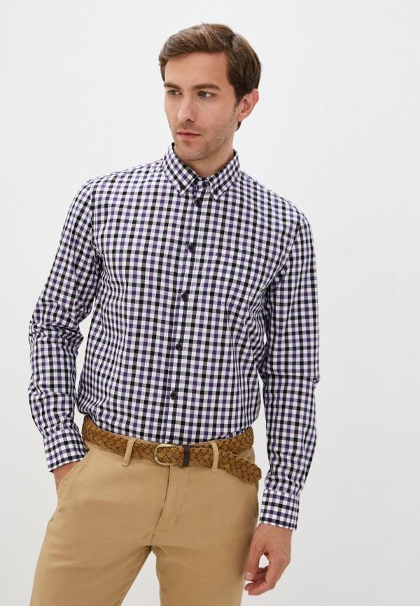 мужская рубашка с длинным рукавом baon, фиолетовая