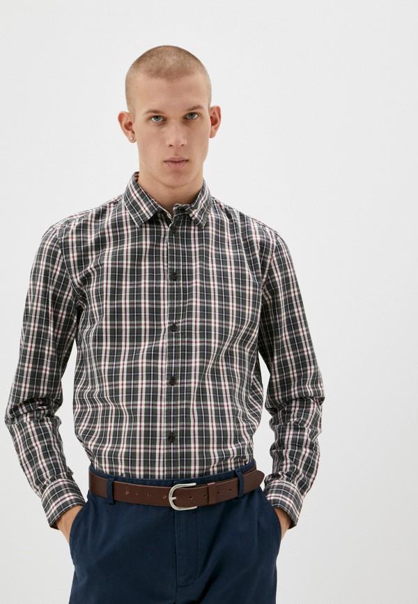 мужская рубашка с длинным рукавом baon, хаки