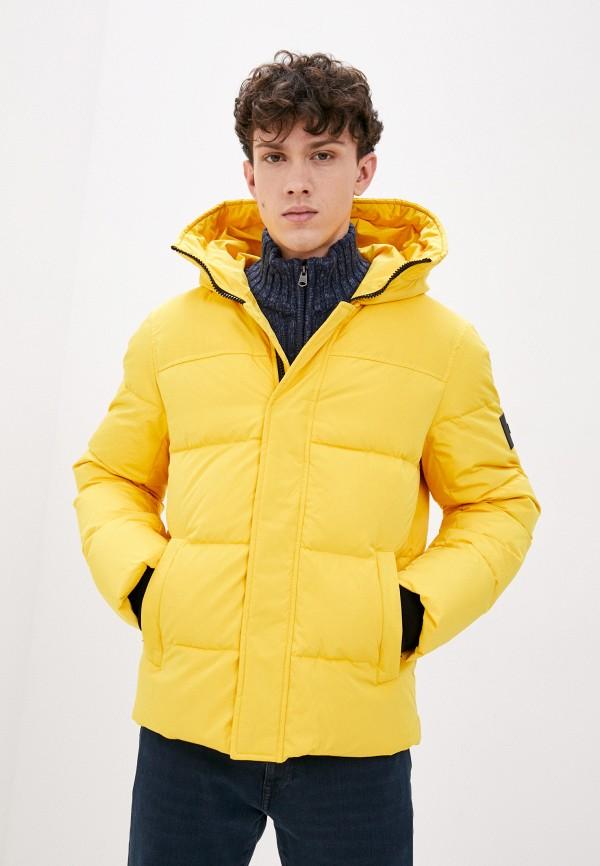 мужской пуховик baon, желтый