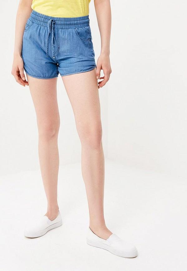 женские повседневные шорты baon, синие