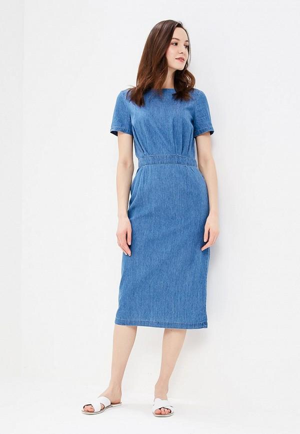 Фото 2 - Платье джинсовое Baon голубого цвета