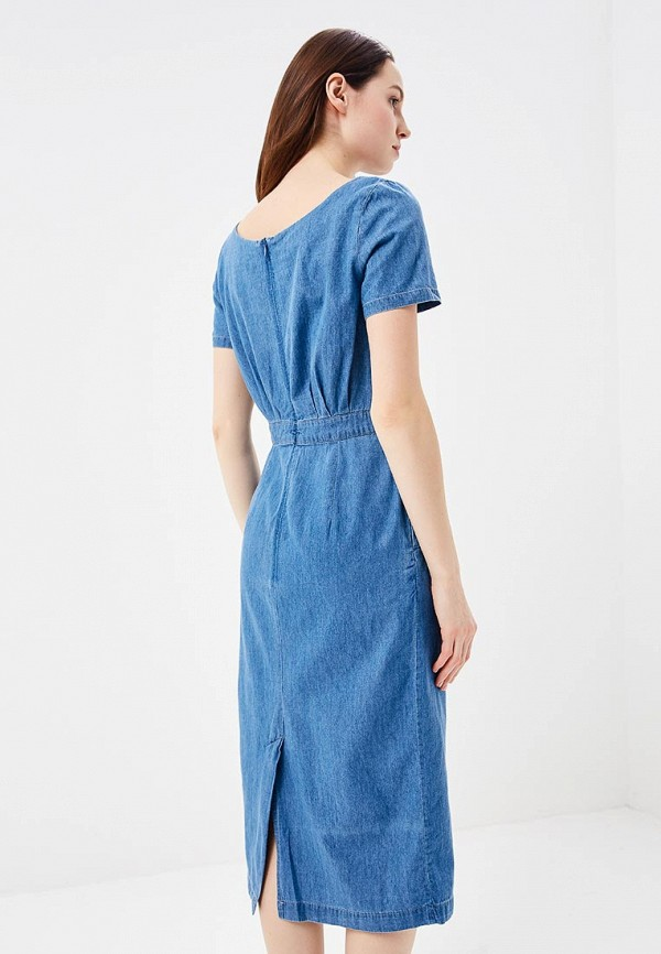 Фото 3 - Платье джинсовое Baon голубого цвета