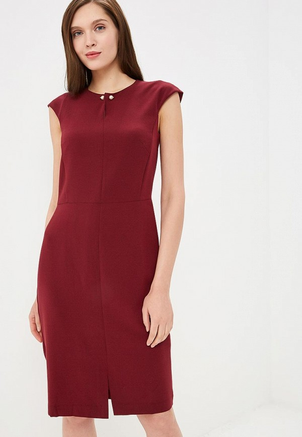 женское повседневные платье baon, бордовое