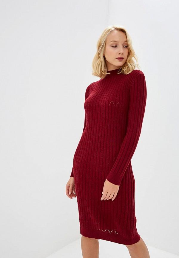 женское платье baon, бордовое