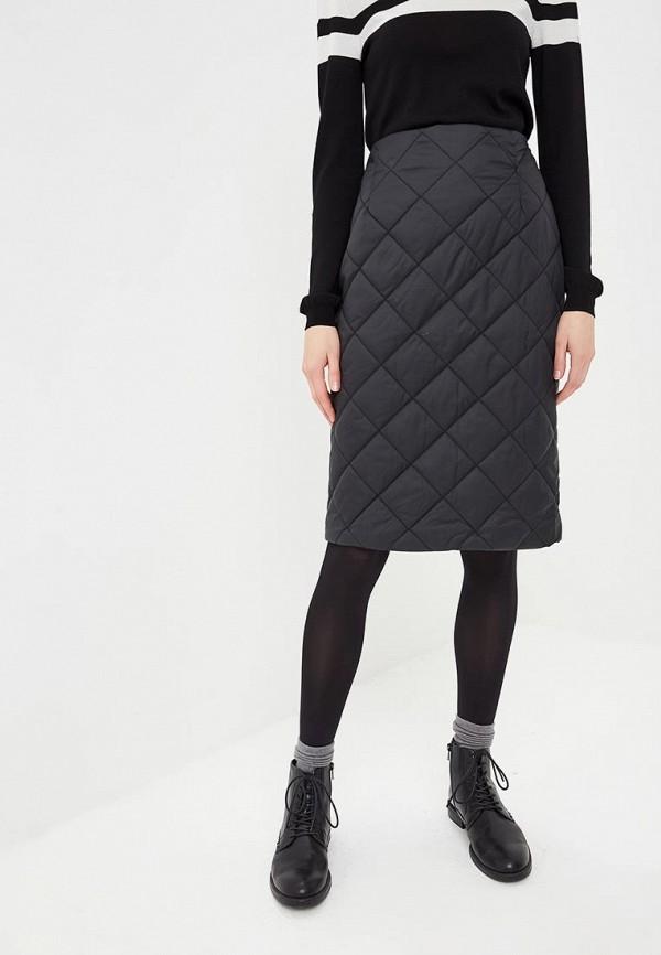 женская прямые юбка baon, черная