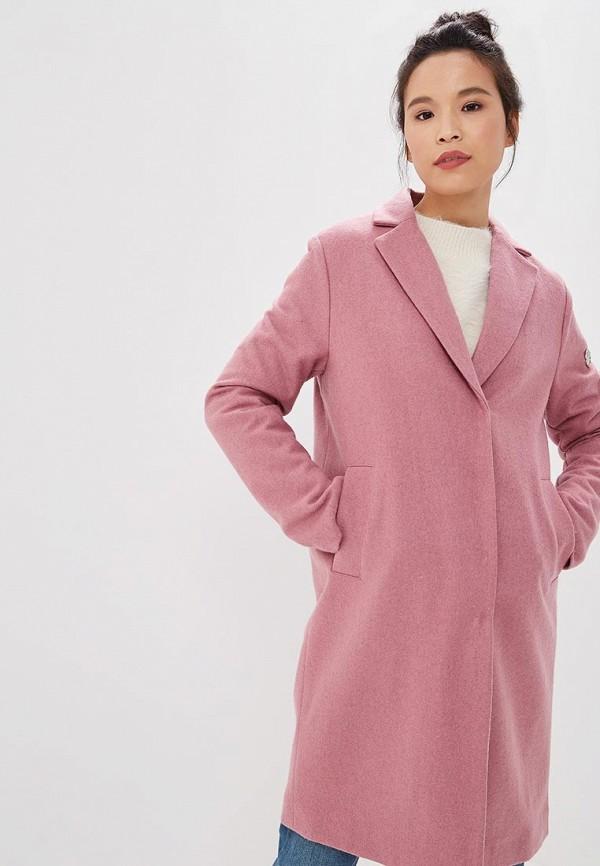женское пальто baon, розовое