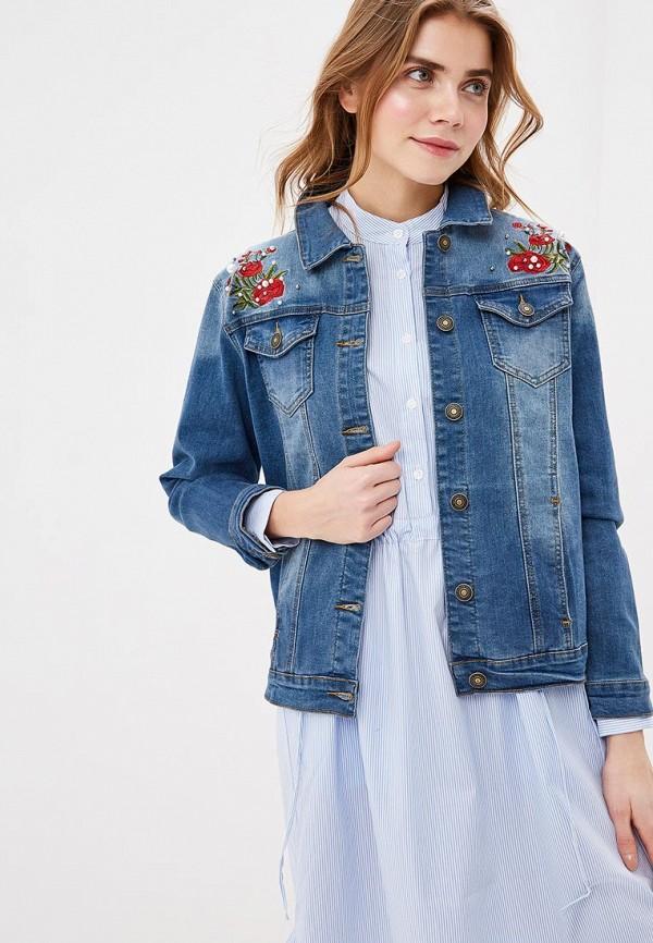 женская джинсовые куртка baon, синяя