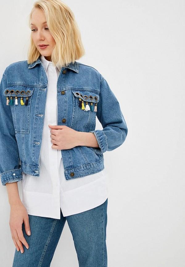 Куртка джинсовая Baon Baon BA007EWDWZF9 baon куртка с английским воротником и бантами арт baon b035015