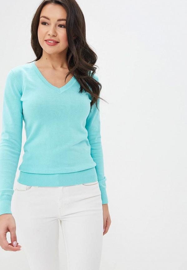 женский пуловер baon, бирюзовый