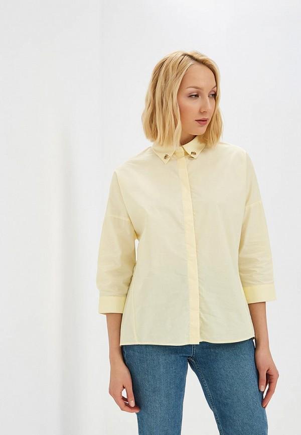 женская рубашка с длинным рукавом baon, желтая