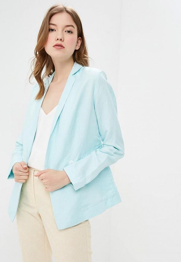 женский пиджак baon, голубой