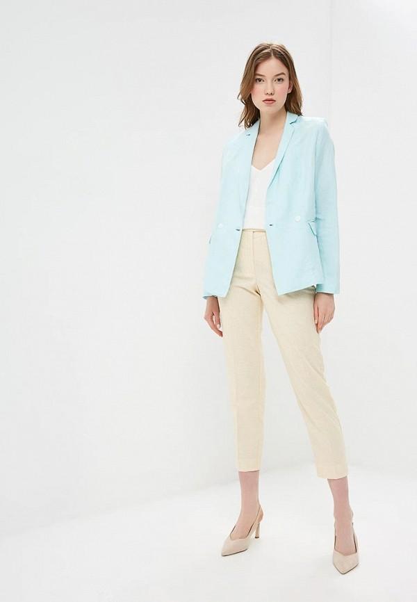 Фото 2 - женский пиджак Baon голубого цвета