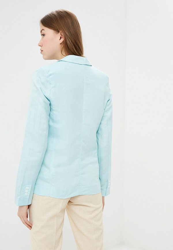 Фото 3 - женский пиджак Baon голубого цвета