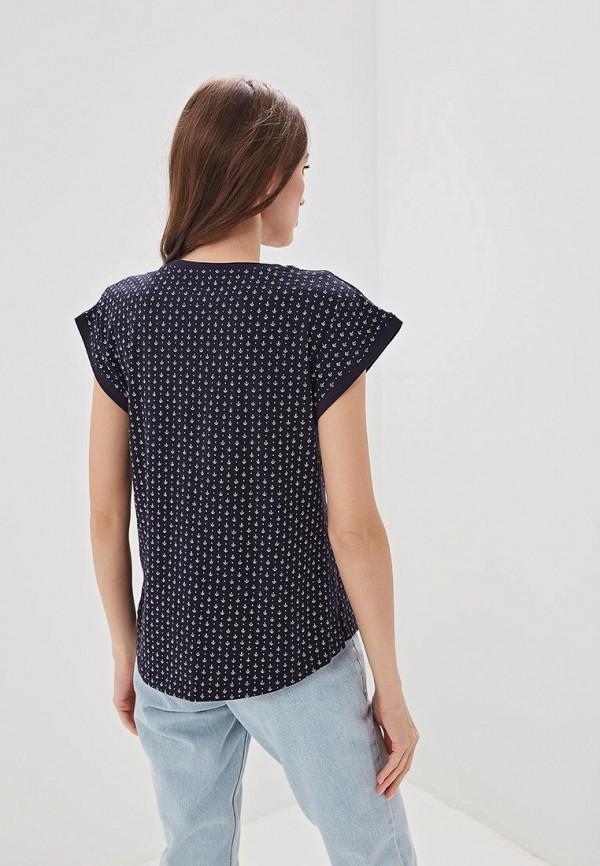 Фото 3 - женскую футболку Baon синего цвета