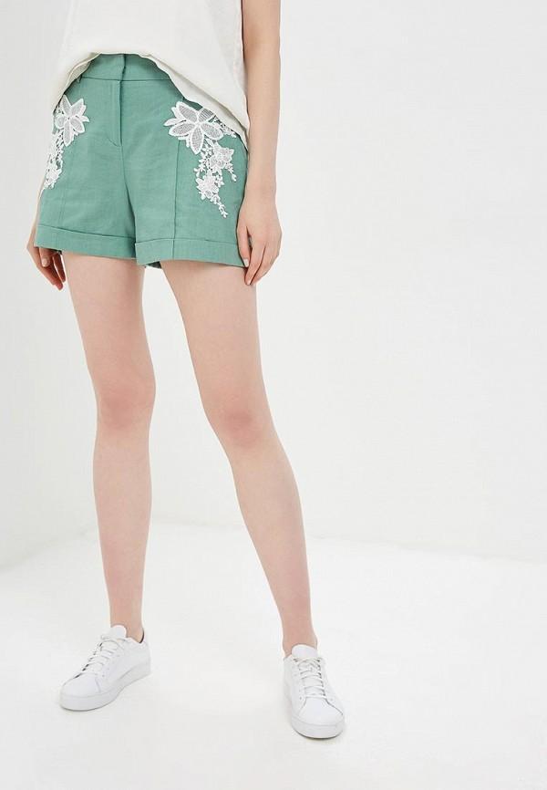 женские повседневные шорты baon, зеленые